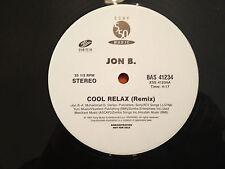 """JON B - COOL RELAX (the Remix feat GURU) - 1997 US Dj PROMO 12"""" Single RnB NMINT"""