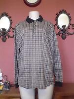 Men's Axis Size L Multi color Check LS Polo Shirt EUc