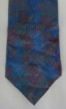 Mens Neck Tie Necktie Abstract Gray Red Blue