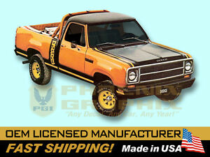 1979 1980 Dodge Macho Power Wagon Truck Decals Stripes Graphics Kit