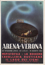 * VERONA - Arena, 42a Stagione Lirica 1964 - Boheme, Lago dei Cigni, Mefistotele