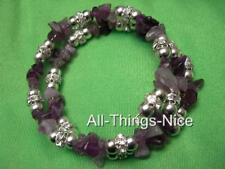 AMETHYST Gemstone Crystal Bangle Wrap Bracelet Jewellery for Protection Healing
