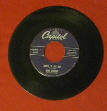 "GENE VINCENT ""DANCE TO THE BOP"" RARE 1957 CAPITOL 3839 LQQQK!"