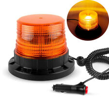 Rooftop Rotate Yellow LED Strobe Light Car Truck Beacon Warning Amber Magnetic