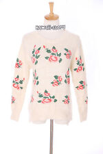 Th-13 taille xs-s pull sweater blanc white flowers fleurs Japon tendance fashion