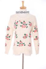 TH-13 Gr. XS-S Pullover Sweater weiß white flowers Blumen Japan Trend Fashion