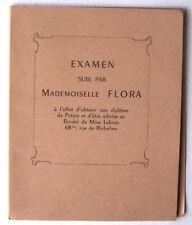 Examen subi par Mademoiselle FLORA .. diplôme de Putain TBE curiosa Louis PROTAT
