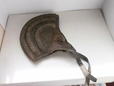 WWII Original Military  Parachute Cap,Pilot, Aviator Leather Helmet Vintage