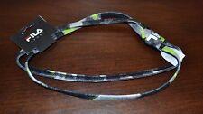 Fila Sport Headband Gray Black & Green Headband One Size Fits Most Adults