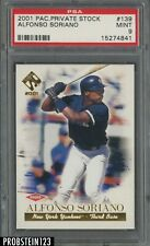 2001 Pacific Private Stock Alfonso Soriano New York Yankees PSA 9 MINT