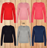 New Ladies Waffle Knitted Top Quality Full Sleeves Womens Long Jumper Sweater