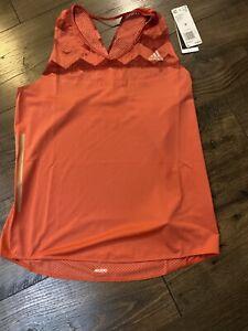 NWT adidas Adizero Womens Running Vest Tank Top - Red Medium