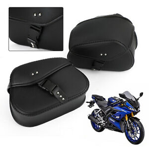 Universal Motorcycle Pu Saddle Bag Luggage Plastic Buckle Fit For Honda Suzuki