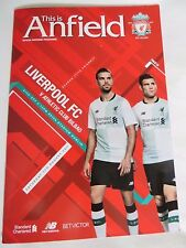 LIVERPOOL ATHLETIC CLUB BILBAO MATCH PROGRAMME AUGUST 2017 PRE SEASON FRIENDLY