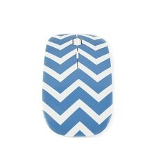 Chevron Series Blue USB Wireless Optical Mouse for All Macbook & Laptop
