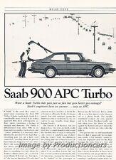 1982 SAAB 900 APC Turbo Road Test Original Car Review Print Article J680