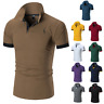 New Fashion Men's Slim Shirt Short Sleeve Casual T-Shirt Tops Muscle T-Shirt