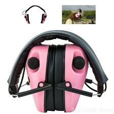 Pink Caldwell Electronic Ear Muffs Hear Protection Impact Sport Earmuff Shooting