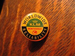 Northwest Airlines Lapel Pin - Vintage KLM Royal Dutch Air Lines NWA USA Holland