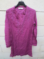 Robe Tunique COMPTOIR DES COTONNIERS violet ROSAMEE coton 36