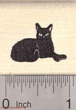 Black Cat Rubber Stamp, Small   D26817 WM