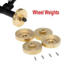 Wheel Gewichte Brass Gegengewicht Koppler für 1/24 Model Car Axial SCX24 90081