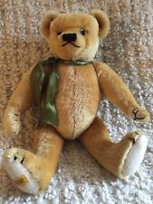 "Merrythought Mohair Bear England Classic Gold 18"" Mint with Growler"