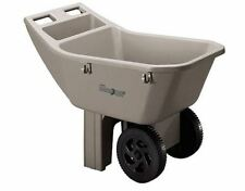 Ames 3-cu ft Poly Yard Cart Wheelbarrow Garden Tool Cart Wagon Wheel Barrow Tire