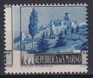 1949 SAN MARINO NR.342 SPLENDIDA E RARA VARIETA DI STAMPA E DENTELLATURA MNH**