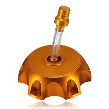 NEW GOLD BILLET ALUM GAS CAP SSR70 SDG110 90 107 110 125cc PIT BIKE I GC06