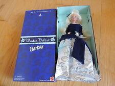 Mattel Barbie Doll Winter Velvet Blue Silver Gown Avon Special Ed NRFB (bb020)
