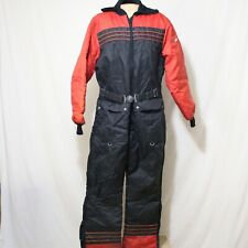 Vtg 80's Yamaha Snowmobile Ski Suit One Piece Made In USA Mens Large Black Snow