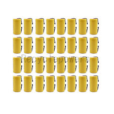 32 x SubC Sub C Rechargeable Battery 2500mAh 1.2V NiCd with Tab Yellow US Stock