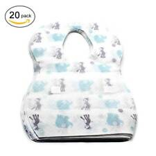 20pcs Disposable Bibs Children Baby Waterproof Sterile Eat Bibs With Pocket SetO
