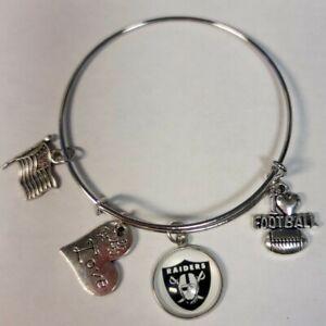 Oakland Raiders Expandable Charm Bracelet NEW