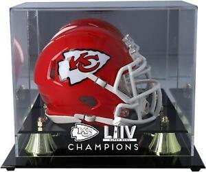 Kansas City Chiefs Super Bowl LIV Champs Golden Classic Mini Helmet Display Case