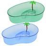 "Large Turtle House Reptile Plastic Terrarium Lagoon Habitat Tank Box 12.5x8.5x3"""
