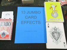 13 Jumbo Card Effects with 2 Decks of Jumbo Playing Cards