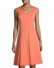 NEW Lafayette 148 New York Emery Sleeveless A-line Dress in Rust - Size 6 $329