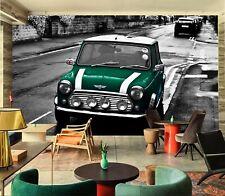 3D British Racing Green A64 Car Wallpaper Mural Self-adhesive Removable Zoe