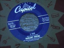 MARGARET WHITING 45.  MAMA'S PEARLS  /  A MAN.  VG+.