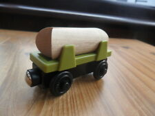 Thomas Tank Engine & Friends Wooden Train LOG CAR  LEARNING CURVE ETC POST DISCS