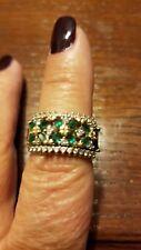 14k Gold Genuine Emerald and Diamond Ring