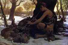 Metal Sign Vedder Elihu Marsyas Enchanting The Hares A4 12x8 Aluminium