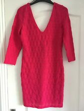 ladys/ womens H&M bodycon dress bright pink size small