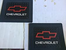 Rear Utility Rubber Floor Mats - Red Chev