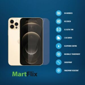 New iPhone 12 Pro Max 9H Strong Hardness Slim Tempered Glass Screen Protector