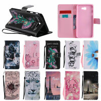 3D Painting Flip PU Card Stand Case Wallet Cover For iPhone 5 SE 6 6S 7 8 Plus X
