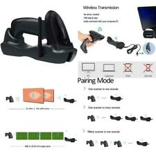Nadamoo Wireless Barcode Scanner With Usb Cradle Charging Base 328Ft Long Transm