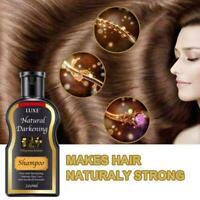 200ml Natural Darkening Shampoo Moisturizes Repairs Hair Shampoo For Men Women